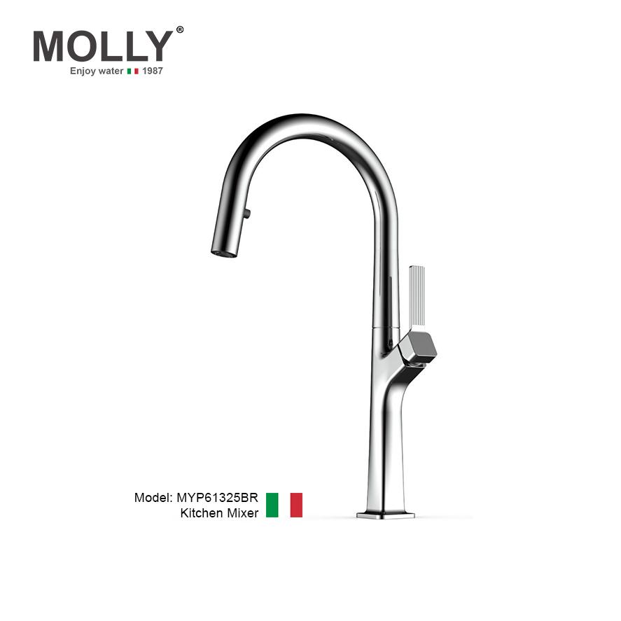 Vòi rửa bát, vòi rút Molly MYP61325BR